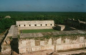 Cuadrángulo de las Monjas en Uxmal, Yucatán, México