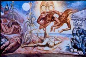 Con la masa amarilla y la masa blanca formaron y moldearon la carne del tronco, de los brazos y de las piernas