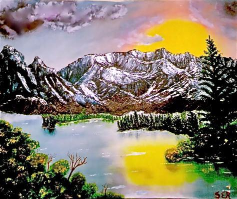 Montes y montañas y macizos de árboles OLEO SER