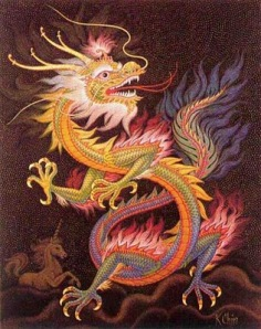 Dragon-chino gobernante de las aguas, causante del Diluvio