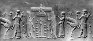Sumerian-fish-god