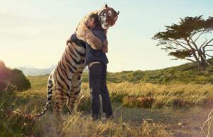Abrazo de tigre compartido en Facebook