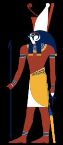 Horus dios de los egipcios con cabeza de halcon