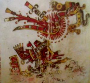 Quetzalcóatl Serpiente emplumada dios azteca