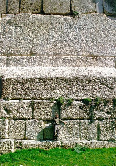 Baalbek plataforma sobre la que los romanos construyeron el templo a Júpiter