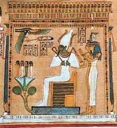 OSIRIS,  DIOS EGIPCIO DE SANGRE AZUL E ISIS DIOSA DE SANGRE ROJA
