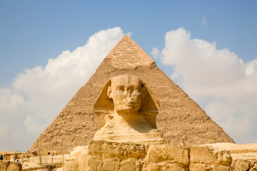 Piramide y Esfinge antiguo Egipto