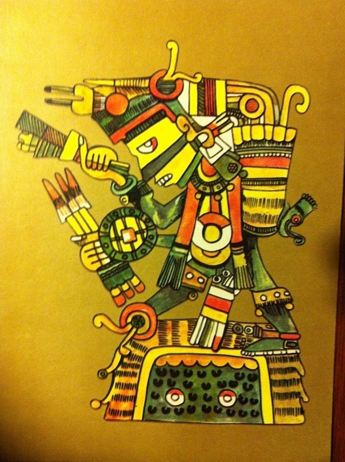 dios-azteca-yayauhqui-tezcatlipoca-negro-el-dios-juez-CON BASTON DE MANDO