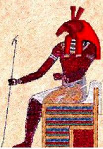 set dios egipcio con su vara de mando