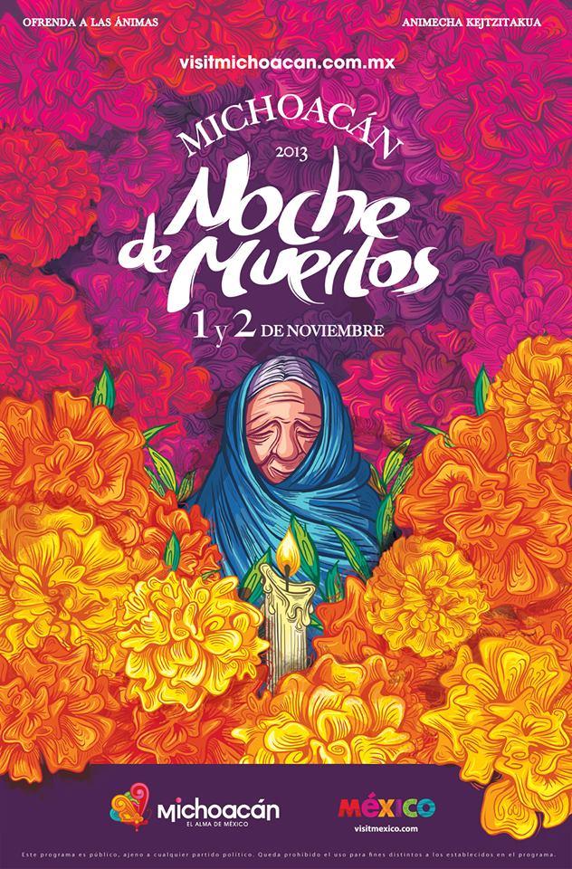 Pasar la noche de muertos 2013 en Michoacan