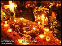Mixquic D F ofrenda dia de muertos