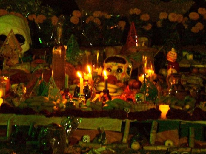 Ofrenda dia de muertos en Xochimilco
