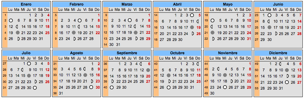 calendario lunar calendrier lunairefr calendario lunar 2015 historia ciencia aztecas mito. Black Bedroom Furniture Sets. Home Design Ideas