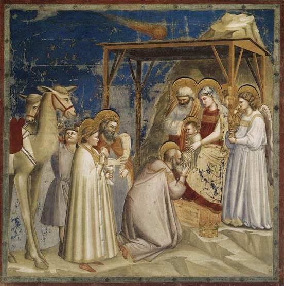 Giotto, La adoración de los reyes magos