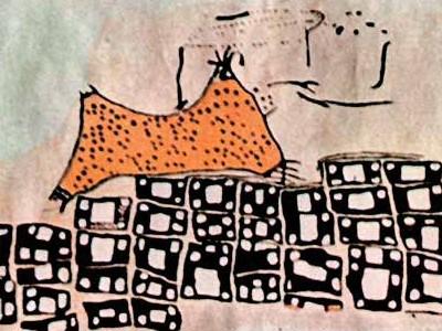 catal_huyuk-fresco volcan Hasan Dag