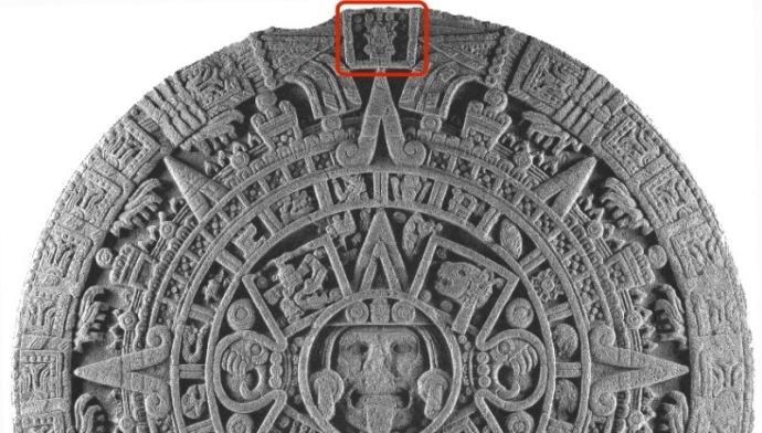 PIEDRA DEL SOL Detalle del símbolo 13 carrizo