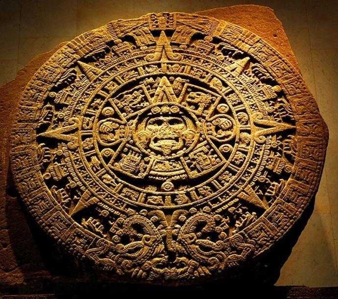 Piedra del Sol Cuatro Soles Anteriores