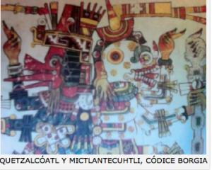 Quetzalcoatl y Mictlan tecuhtli