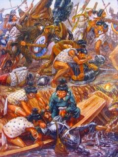cortes atacado por mexicas