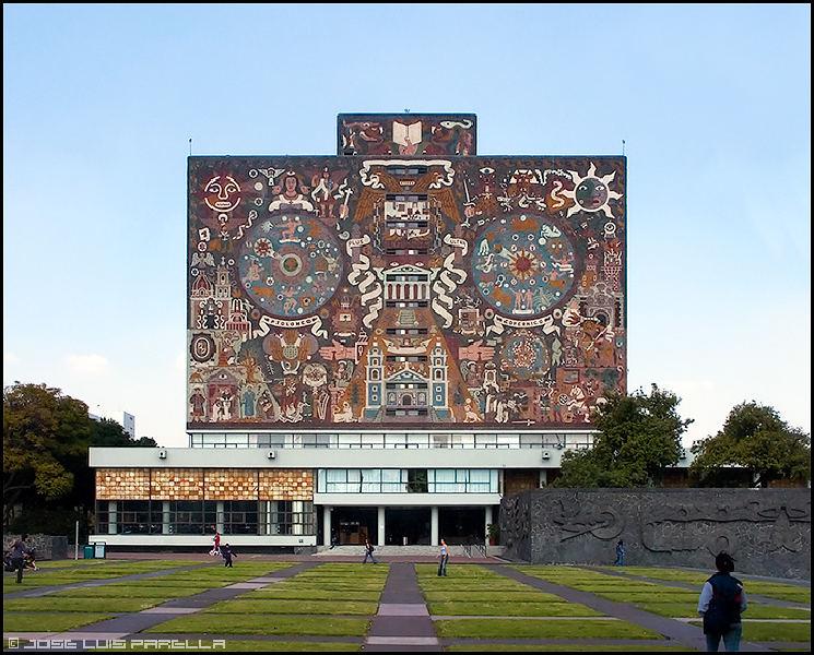 Mural De La Biblioteca Central De La Ciudad Universitaria Historia
