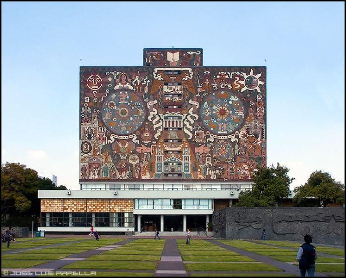 Mural Biblioteca Central CU Mexico Juan O Gorman