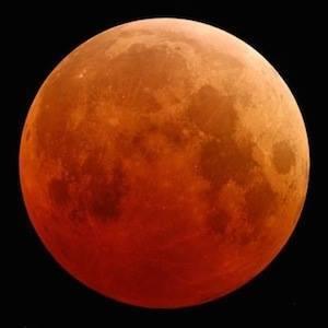Martes 15 de abril luna llena y eclipse total de luna durara 78 minutos se vera en America del Norte y  occidente de Sudamerica