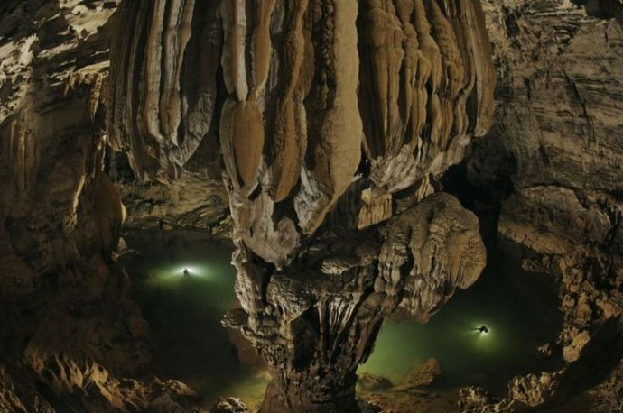 only recently surveyed, is 3.8 kilometers long. Hang Son Doong, in Phong Nha-Ke Bang National Park in Vietnam, is believed by many to be the largest cave on earth
