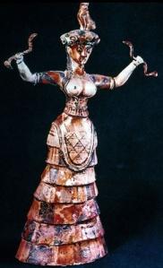 Aegean Minoan snake goddess