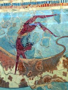 Archaeological Museum of Herakleion Minoan bull leaping fresco 1600  1450 BC