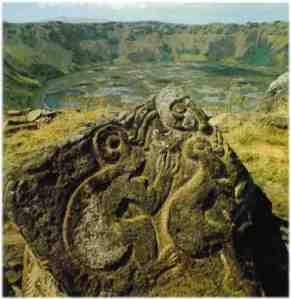 Hombre pajaro Isla de Pascua Chile