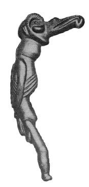 Tangata Manu figura madera