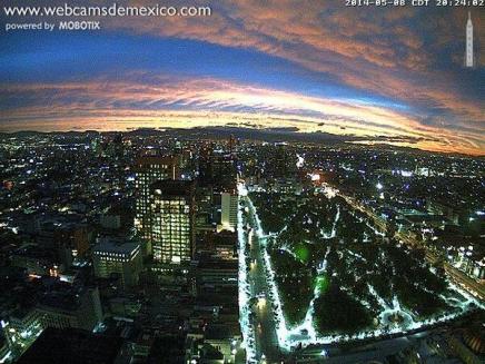 vista poniente Torre Latinoamericana Distrito Federal Foto webcamsdemexico