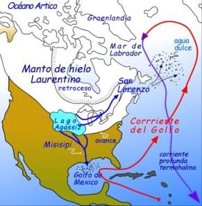 Corriente del Golfo y glaciacion