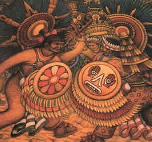 Representación de las Guerras Floridas Diego Rivera