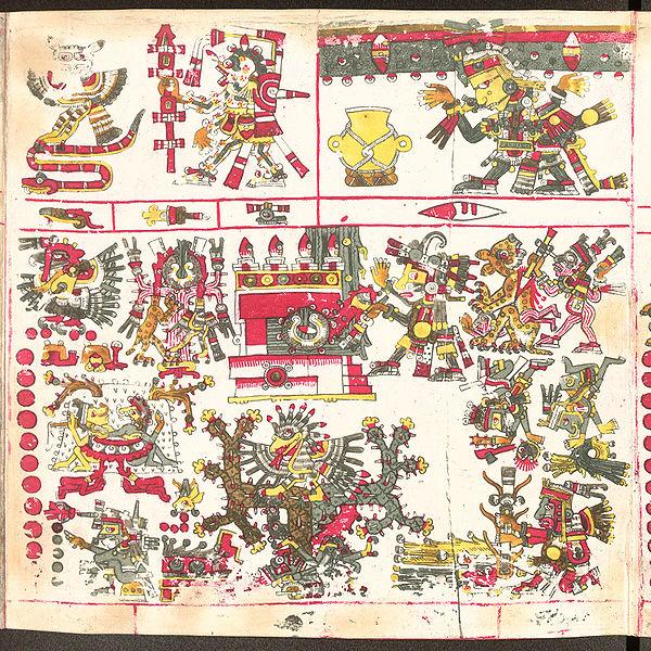 Huitzilopochtli levantando los cielos del Sur Códice Borgia Wiki