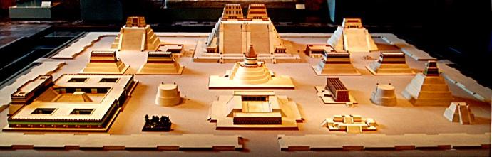 Maqueta del Templo Mayor de Tenochtitlan