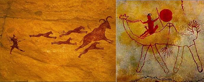 Arte rupestre Tassili animales