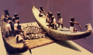 Barcos egipcios de juncos