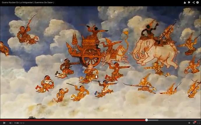 Batalla en el cielo segun antiguos textos hidues