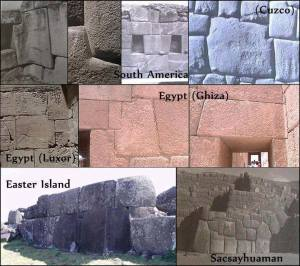muchas antiguas construcciones erigidas por culturas que nunca han interactuado entre sí comparten muchas cosas