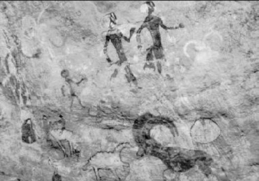 Pinturas rupestres cueva Tassili n'Ajjer Sahara Jiang