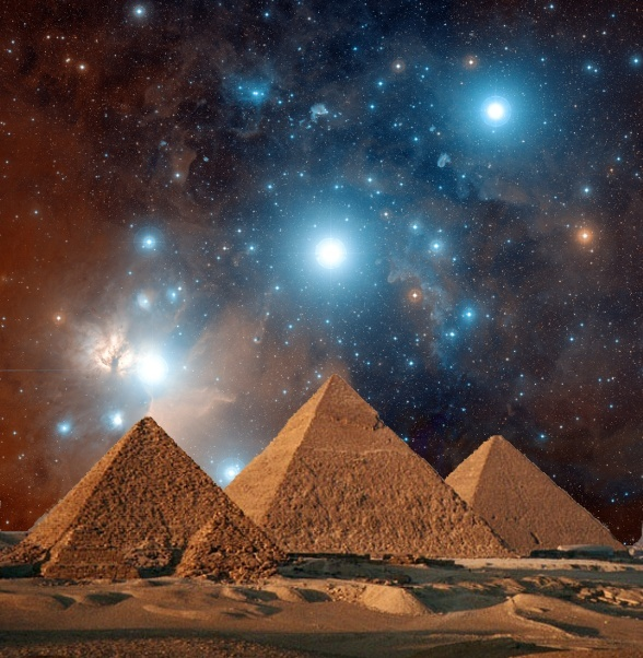Piramides de giza y cinturon de orion