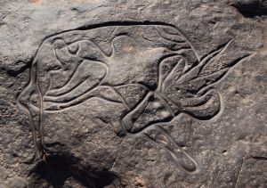 Antilope dormido Tin_Taghirt Tassili nAjjer Saharan rock Linus Wolf