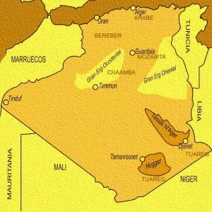 Tassili mapa