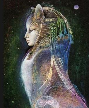 Bast diosa gata egipcia