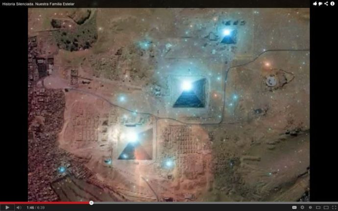 Cinturon de Orion y piramides de Giza