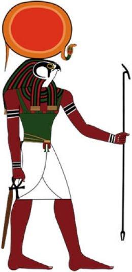 Dios egipcio Ra con cabeza de halcon
