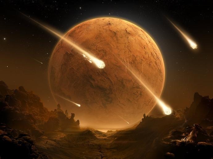 Lluvia-de-meteoritos y Super Luna