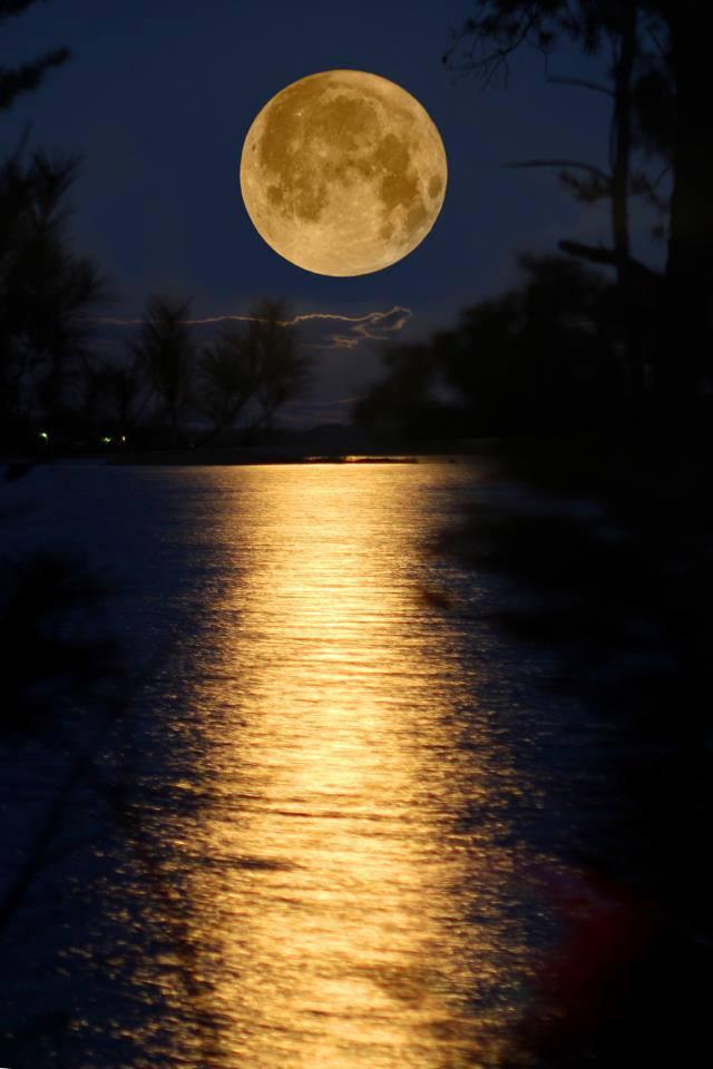 Luna llena amarilla Romanticando