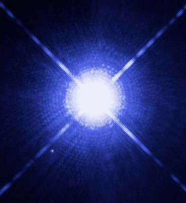 Sirius_A_and_B_Hubble_photo WIKIPEDIA COMMONS